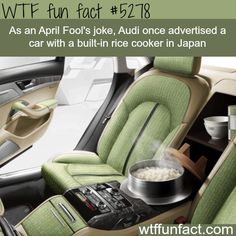 audis car that has a built in rice cooker wtf fun facts