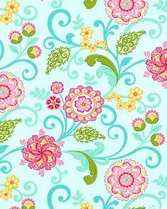 Carina - Gypsy Summer Flowers - Aquamarine