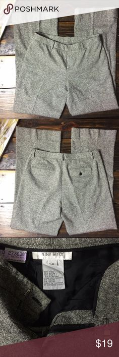 """Nine West wool blend trouser slacks Nine West Wool Blend Trousers   In excellent used condition.    Fabric: 60% Wool, 28% Nylon, 10% Silk, 2% Elastane  (lined)   MEASUREMENTS (taken while flat) Waist: 15""""  Hips: 21""""  Le Opening 10""""  Inseam: 30""""  Rise: 10""""   ∞∞∞∞∞∞∞∞∞∞∞∞∞∞∞∞∞∞ As always I follow all Poshmark rules. No Trades. Please make all offers through the offer button - lots of love girls! Nine West Pants Trousers"""