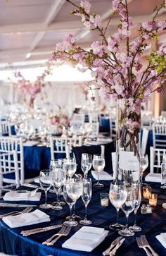 Cherry Blossom Centerpieces Perfect For A Spring Wedding