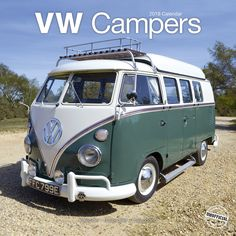 VW Camper Calendar- Calendars 2017 - 2018 Wall Calendars - Car Calendar - Automobile Calendar - VW Campers 16 Month Wall Calendar by Avonside Vw Camper, Volkswagen Bus, Volkswagen Beetles, Combi T1, Combi Split, Van Vw, Old Campers, Beetle Car, Transporter