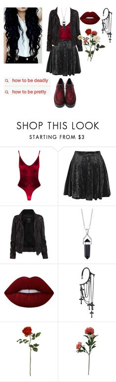 """""""Textures"""" by living-among-the-moon-and-stars ❤ liked on Polyvore featuring Boohoo, AllSaints, Bridge Jewelry, Lime Crime, Threshold, GUESS, alternative and nugoth"""