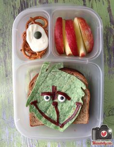 The Grinch from Dr. Seuss by mamabelly.com in @Kelly Lester / EasyLunchboxes