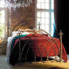 When Gothic interiors are mentioned, the first images that come to mind are black, dark, depressing rooms. A recent reemergence of vamp. Dream Bedroom, Home Bedroom, Bedroom Decor, Dream Rooms, Bedroom Colors, Gothic Bedroom, Goth Home, Gothic Home Decor, Gothic House