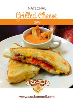 It's National Grilled Cheese! Come celebrate some cheesy goodness with us! www.custommelt.com