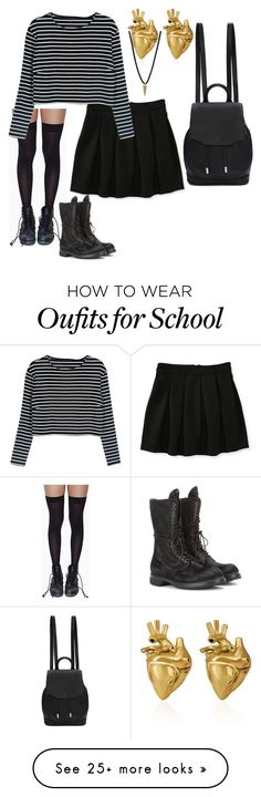 """""""I have a bad mind and I have gold in my veins ~ Lana Del Rey"""" by lovedarcie on Polyvore featuring Aéropostale, Leg Avenue, WithChic, Dogeared, rag & bone, StrangeFruit and Rick Owens"""
