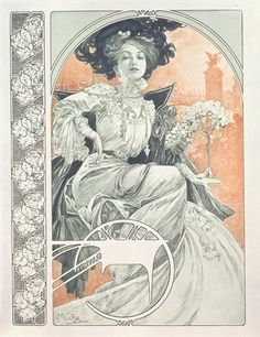 """Mucha, Alphonse Marie -- """"Plate 1 from 'Documents Decoratifs', 1902 """" -- High quality art prints, canvases, postcards -- Mucha Foundation Prints"""