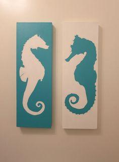 Coastal Seahorses decor... different design same idea - Craft ~ Your ~ Home