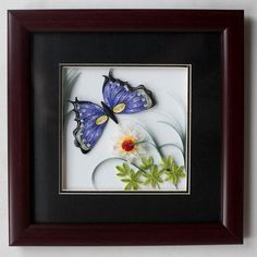 Quilling Butterfly, Butterfly Artwork, Butterfly Frame, Purple Butterfly, Quilling Cards, Paper Quilling, Quilling Ideas, 20th Anniversary, Decoration