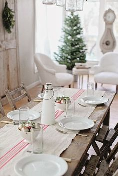 dreamy whites... love her Christmas table!