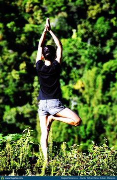"#Yoga Poses Around the World: ""Tree Pose - by Abigael Morales A."""