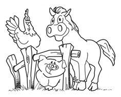 desenhos de animais para colorir da fazenda