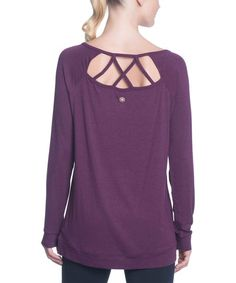 Gaiam Pickled Beet Heather Ruby Tunic | zulily