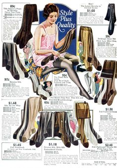 1920s socks and stockings