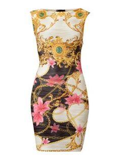 Lipsy Versace print shift dress White - House of Fraser