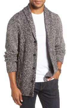 Men's 1901 Shawl Collar Cardigan, Size X-Large - Black Tall Men Fashion, Best Mens Fashion, Fall Fashion, Fashion Ideas, Big And Tall Style, Mens Big And Tall, Shawl Collar Cardigan, Mens Style Guide, Fashion Essentials
