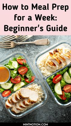 How to meal prep for a week. Great meal prepping ideas for weight loss. Learn how to make 5 dinners in under an hour with these beginner's meal prep tips. Healthy meal prep ideas. Healthy Packed Lunches, Lunch Containers, Bento, Ms, Packing, Recipes, Bag Packaging, Healthy Lunch Boxes