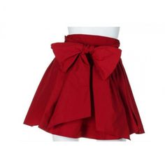 Red skirt with ribbon
