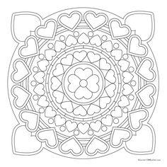 Free Love Mandala Coloring