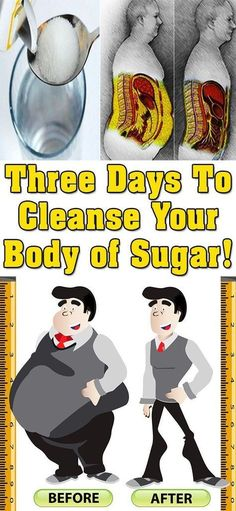 Three days to cleanse your body of sugar