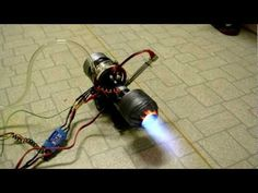 14 year old child with a homemade car turbo jet engine - YouTube