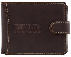 Piniginė Wild   Odinės vyriskos pinigines Wild puikiai tinka nuolat naujų nuotykių ieškančiam vyrui.