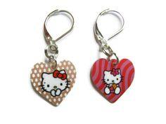 Kitty earrings cat earrings kawaii earrings little door EraOfCrea