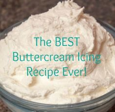 homemade buttercream recipe - just like a bakery (1 c butter, 1 c shortening, 2 lbs powdered sugar, 1-1/2 T hot water, 2 t vanilla)