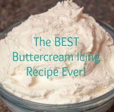 homemade buttercream recipe - just like a bakery (1 c butter, 1 c shortening, 2 lbs powdered sugar, 1-1/2 T hot water, 2 t vanilla)