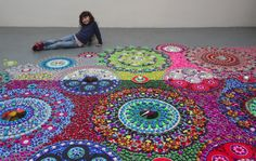 New Ornate Kaleidoscopic Installations That Mimic Patterned Textiles by Suzan Drummen   Colossal