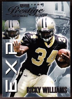 1df6d31c0af TEXAS LONGHORNS NEW ORLEANS SAINTS 1999 PRESTIGE EXP RICKY WILLIAMS ROOKIE  NMMT #MiamiDolphins