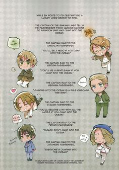 Chibi America, England, Germany, Italy, France and Japan, Hetalia Volume 5