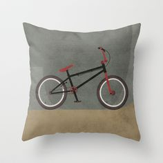 BMX Bike Throw Pillow by Wyatt Design - $20.00