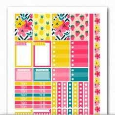 FREE Printable Planner Stickers and Inserts