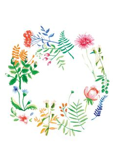 Spring illustration for wall being Paulina Derecka