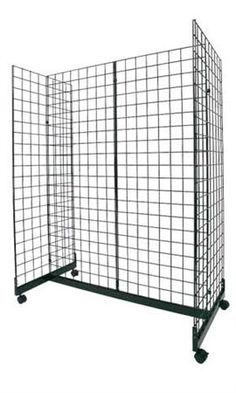 Black Wire Grid Wall Gondola Units | Store Supply Warehouse