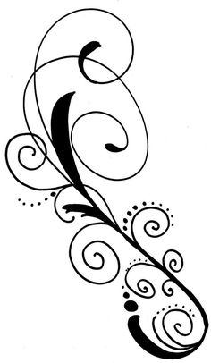 dessin abstrait noir et délicat idéal pour un tatouage