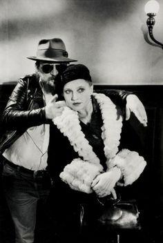 Rainer Werner Fassbinder and Hanna Schygulla, Berlin, ca 1980 -by Alfred Eisenstaedt  from westlicht