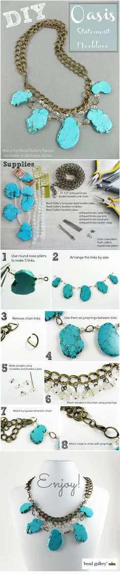 DIY Oasis Statement Necklace