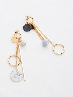 Jewelry Earrings Cheap Multi Charm Drop Earrings - Eardrop Height(cm): Color: GoldColor: GoldType: DangleStyle: ElegantStone Type: No Stone Ear Jewelry, Cute Jewelry, Body Jewelry, Jewelry Accessories, Jewelry Necklaces, Women Jewelry, Fashion Jewelry, Jewelry Making, Silver Jewelry