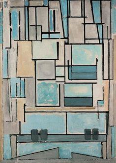 Blue Facade, 1914 by Piet Mondrian