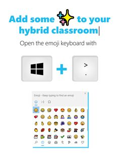 Time for an EdTip! ⏰ Use this keyboard shortcut for quick access to emojis right inside your OneNote Class Notebook. It's a fun way to support creative expression during hybrid learning! 🎨 Emoji Keyboard, Keyboard Shortcuts, Just Do It, Back To School, Notebook, Teaching, Creative, Fun, Lol