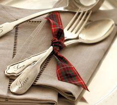 add tartan ribbon for a simple, festive touch