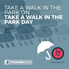 Take a walk in the park on take a walk in the park day! Check out our FUTURAMO ICONS – a perfect tool for designers & developers on futuramo.com