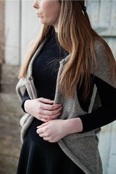Cute knitted sweater vest for women    RUKE - Quality sweaters manufactory  #2017 #Sweater #spring #brown #grey #gray #fashion #wool #alpaca #organic # natural #manufacture #slowfashion #slow #fashion #merino #knitted #knit #clothes #vneck #wiw #ootd #outfit #cardigan #pullover #cardigan #fluffy