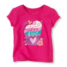 -Let her show a little sisterly love with this fun tee!