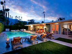 Tony Curtis & Janet Leigh's former 3,204 square-foot house in Palm Springs with 5 bedrooms and 5 baths. Built by designer and developer Roy Fey in 1960, the gated house sits on about a third of an acre.
