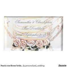 Shop Peach rose flower brides bouquet wedding table number holder created by personalized_wedding. Bride Bouquets, Bouquet Wedding, Floral Bouquets, Floral Wedding, Wedding Peach, Wedding Table Number Holders, Wedding Table Numbers, Table Wedding, Metal Card Holder