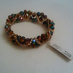 Glass Bead Strech Bracelet Multi Color.