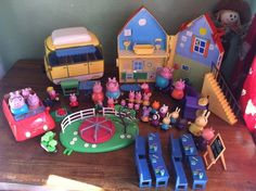 Peppa Pig Toy Bundle - House, Car, Campervan, School, Playground plus Figures Farm Animal Toys, Lilly Flower, Bloom Winx Club, Nick Jr, Pig Party, Games For Toddlers, Kids Ride On, Xmas Presents, 4th Birthday Parties